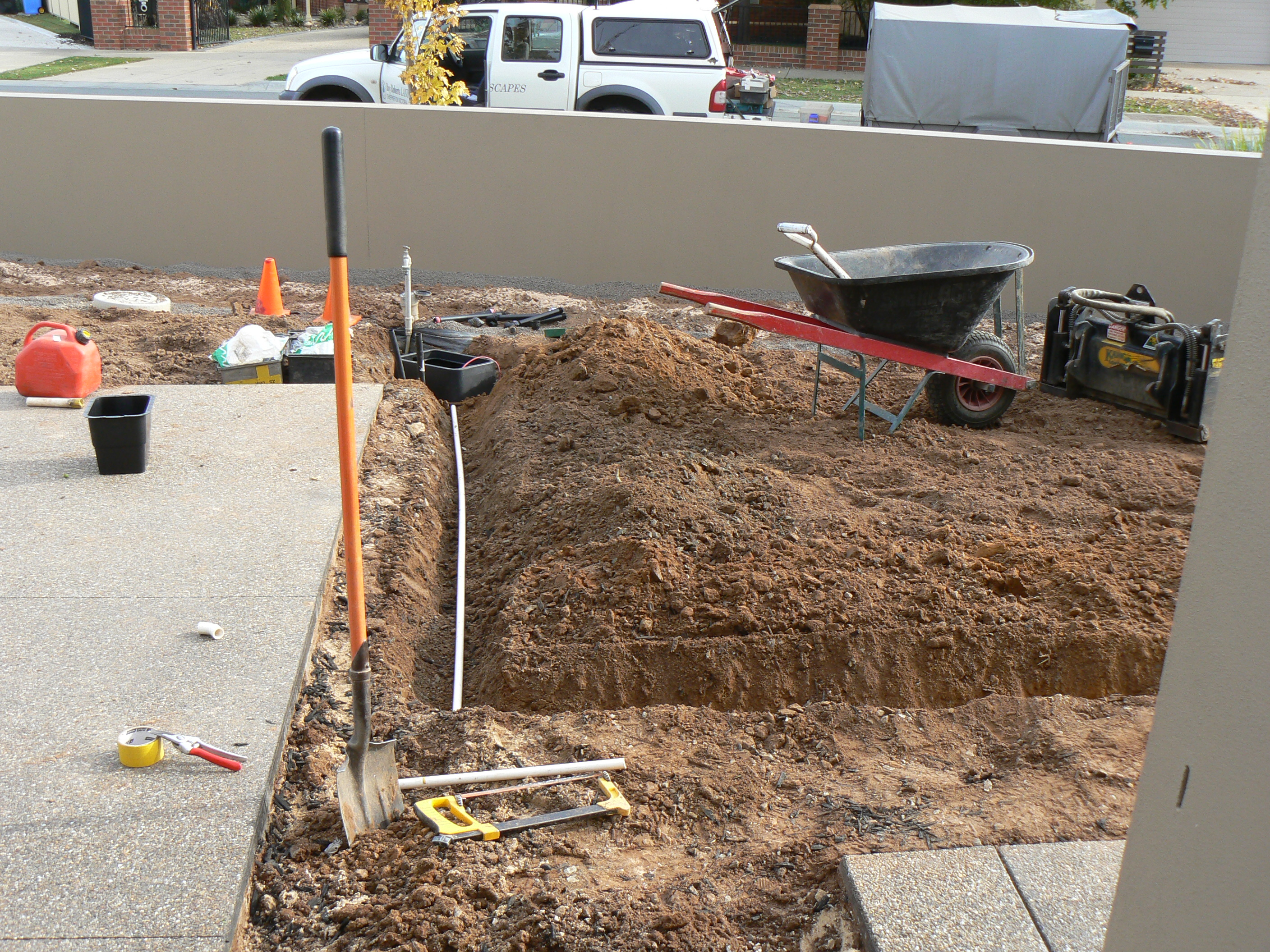 Irrigation cabling in conduit