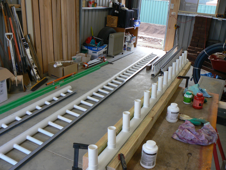 Strip grates under construction